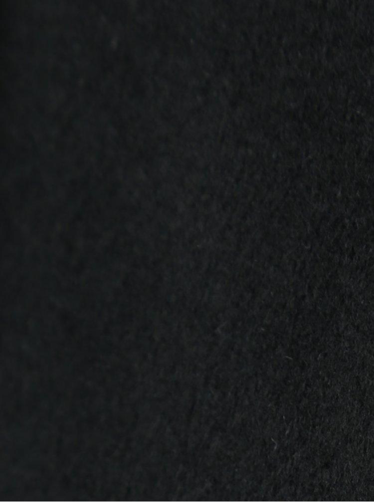 Palton negru din amestec de lana Selected Femme Sasja