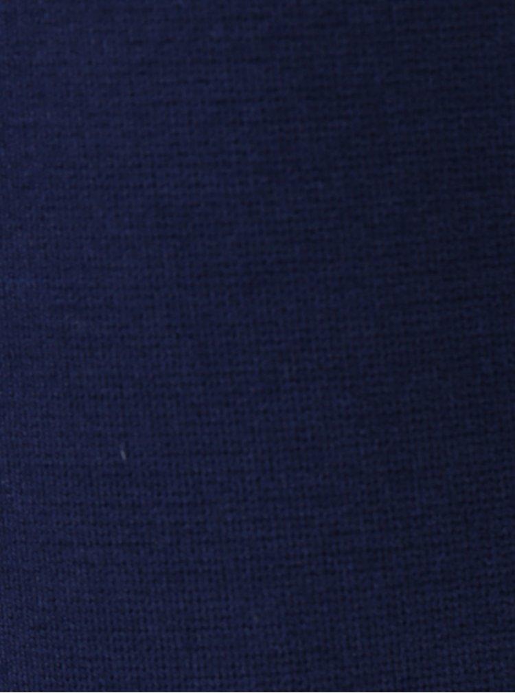 Tmavě modré sako s odnímatelnou umělou kožešinou Fornarina Dolly