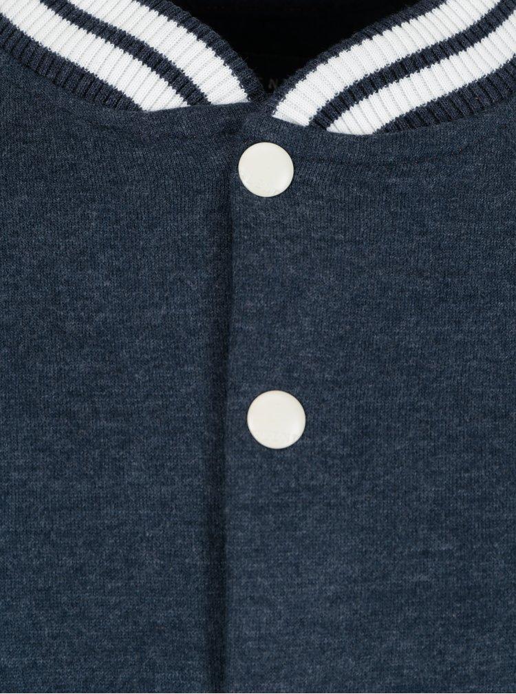 Jacheta college albastru cu alb Blend
