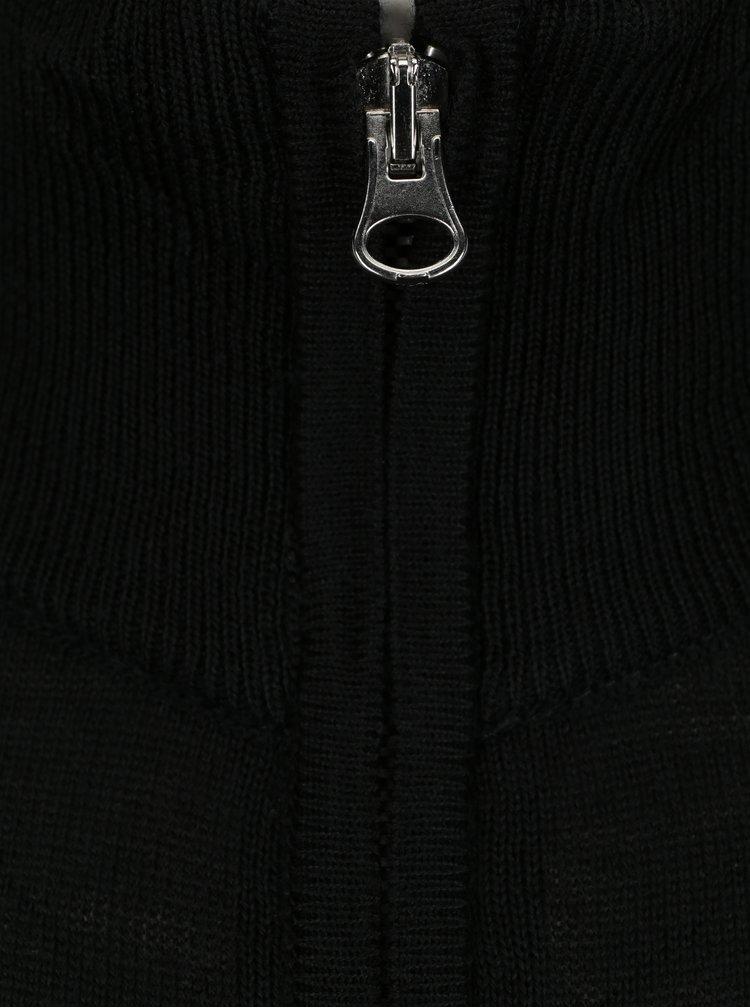 Cardigan lejer negru cu fermoar Casual Friday by Blend