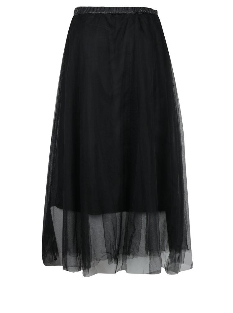 Černá tylová sukně s gumou v pase Fornarina Annie