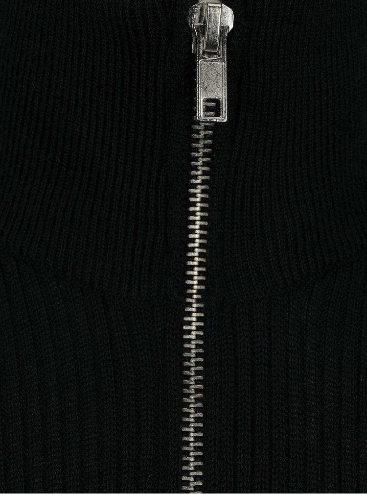 Černý pánský lehký vlněný svetr Casual Friday by Blend
