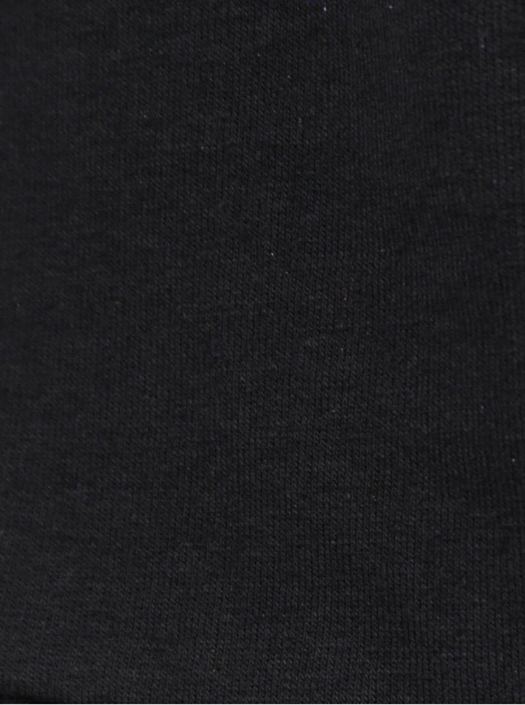 Rochie neagra cu dungi argintii si perle Fornarina Lori