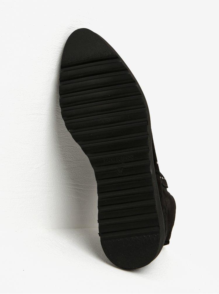 Černé semišové kotníkové boty OJJU