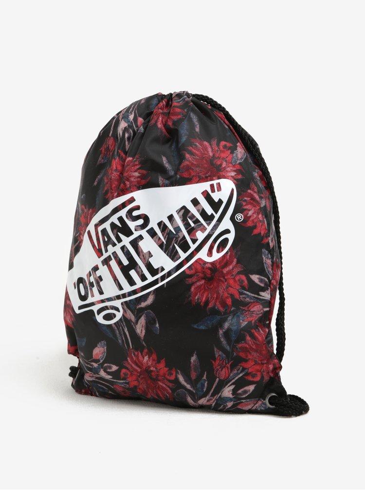 Rucsac negru & roșu cu print floral pentru femei - VANS Benched