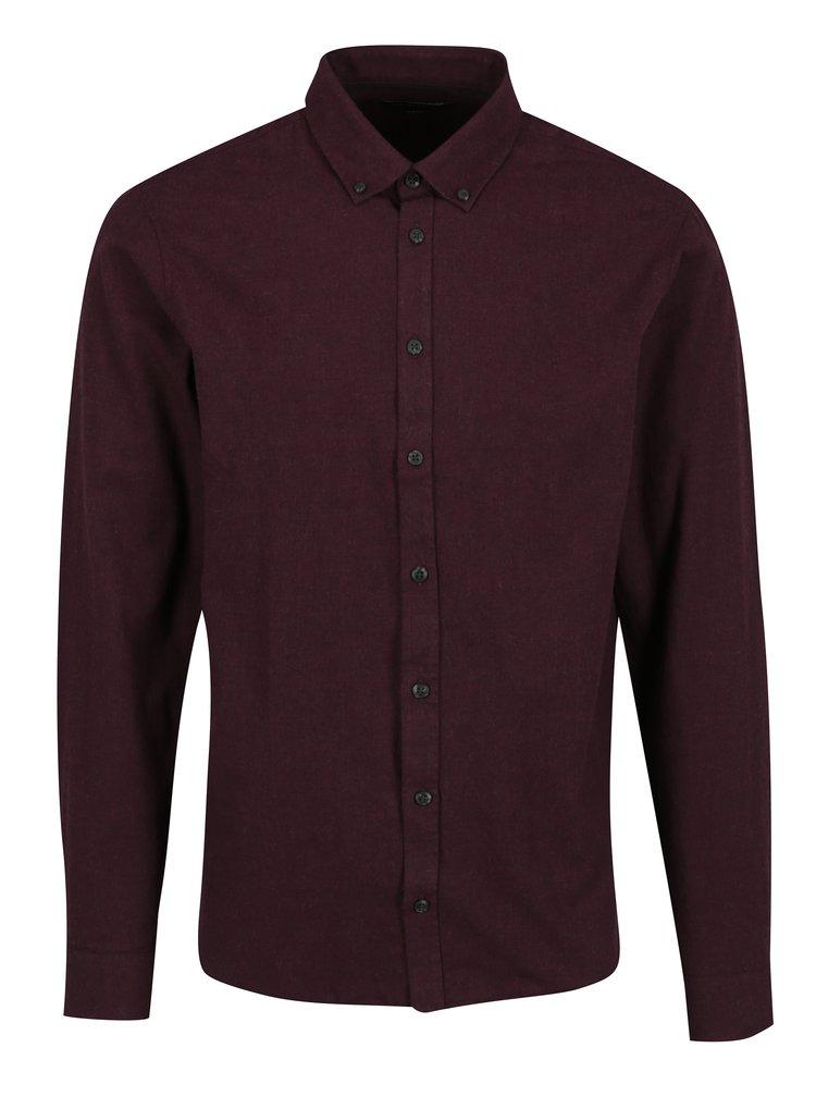 Vínová pánská slim fit košile Casual Friday by Blend