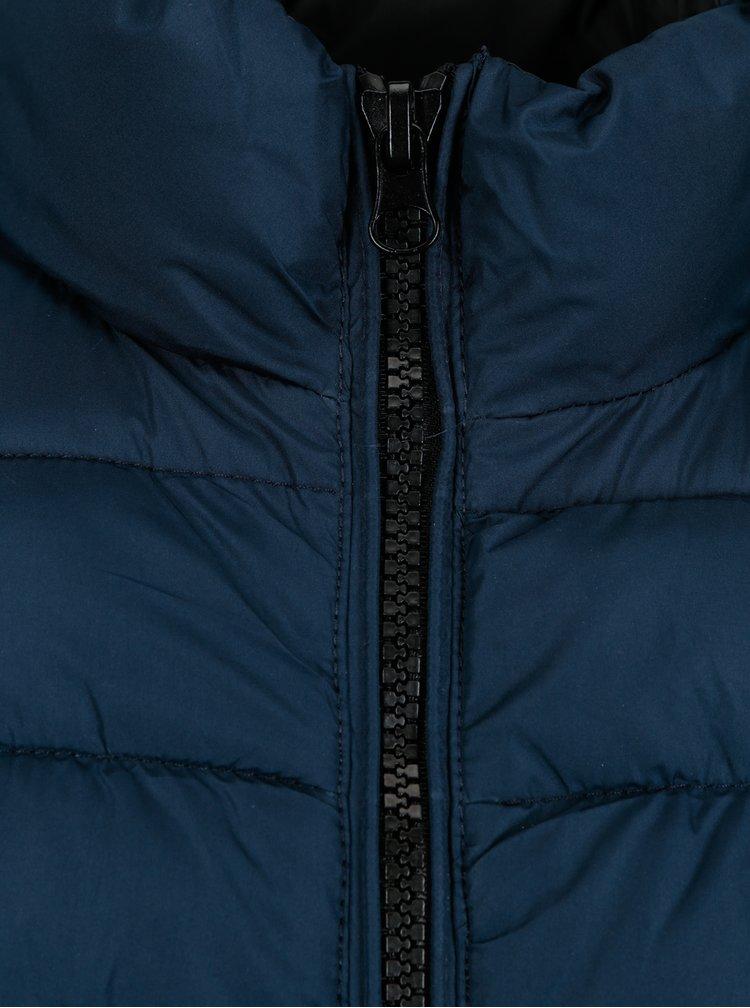 Černo-modrá prošívaná bunda Blend