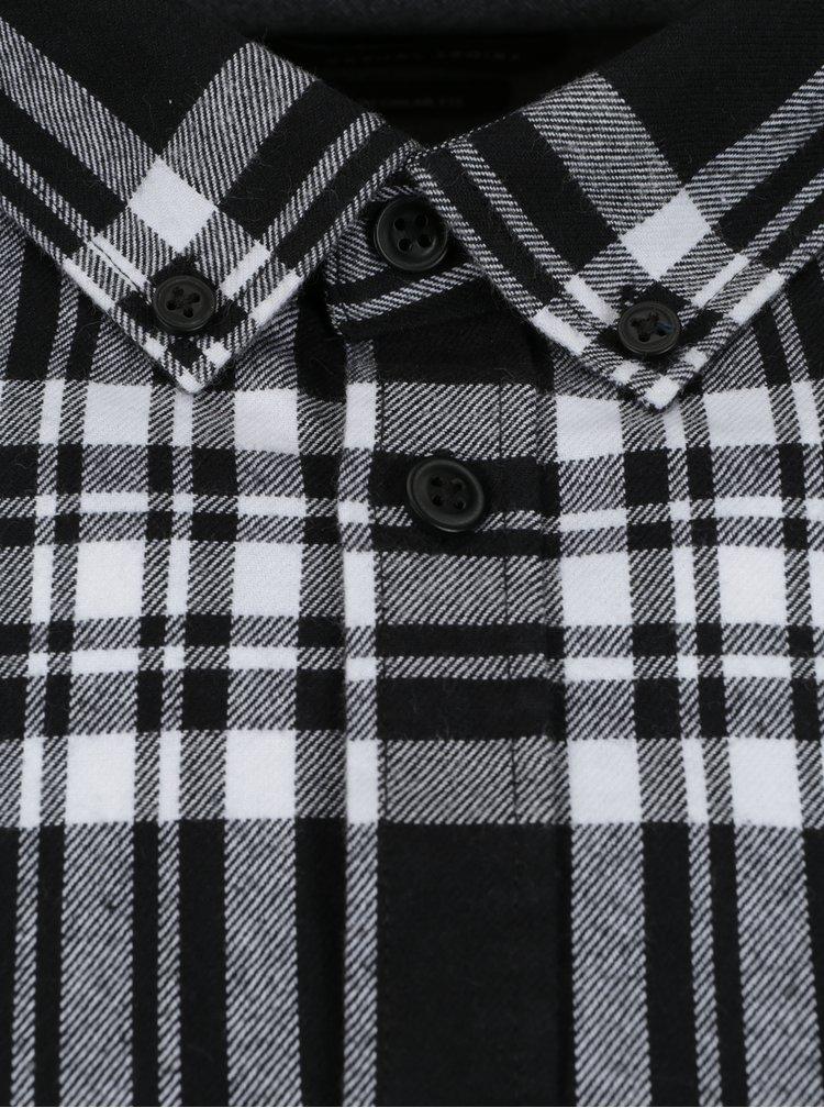 Bílo-černá károvaná pánská regular fit košile Casual Friday by Blend