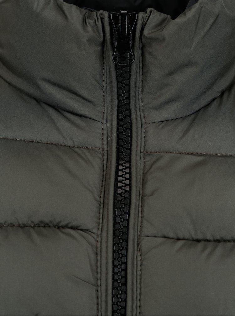 Šedo-zelená prošívaná bunda Blend