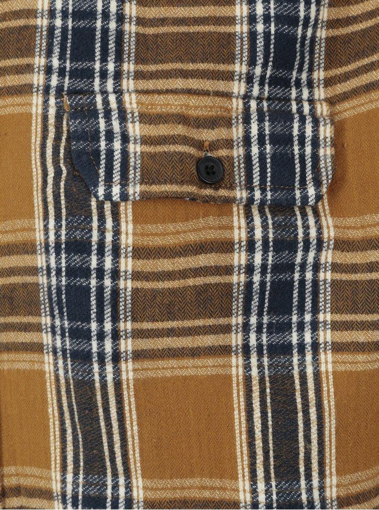 Camasa regular fit galben mustar in carouri Casual Friday by Blend