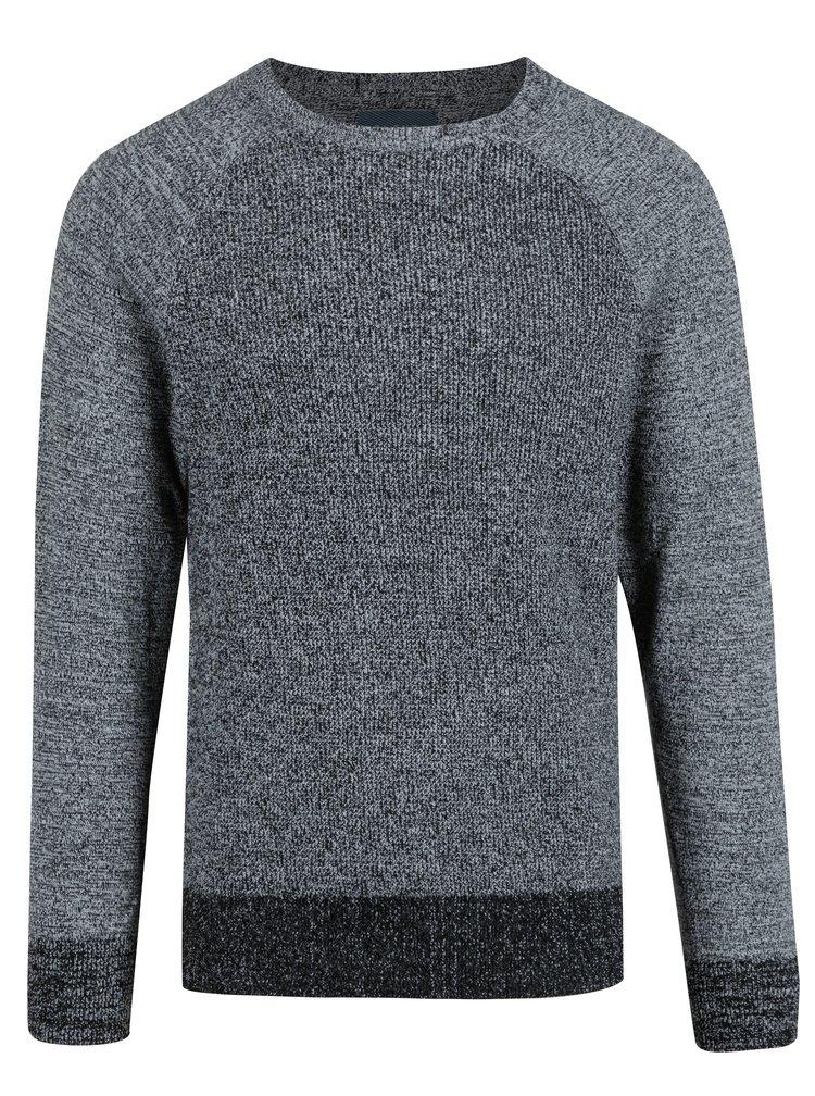 Tmavě šedý žíhaný slim fit svetr Blend