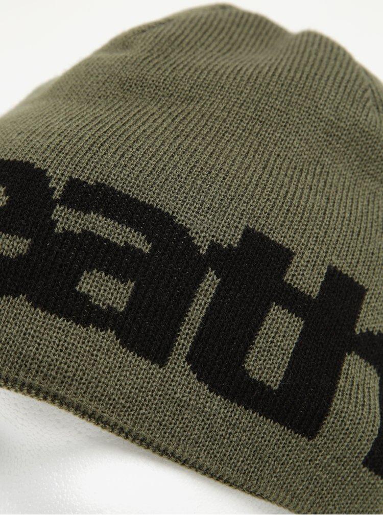 Černo-zelená pánská oboustranná zimní čepice Horsefeathers Fuse