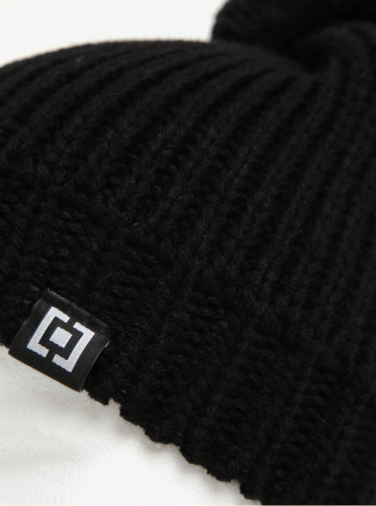 Černá dámská zimní čepice s bambulí Horsefeathers Alexa