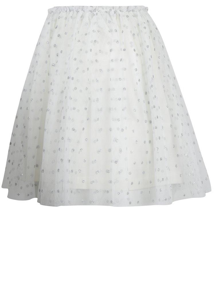 Holčičí tylová sukně v krémovo-stříbrné barvě Mix´n Match