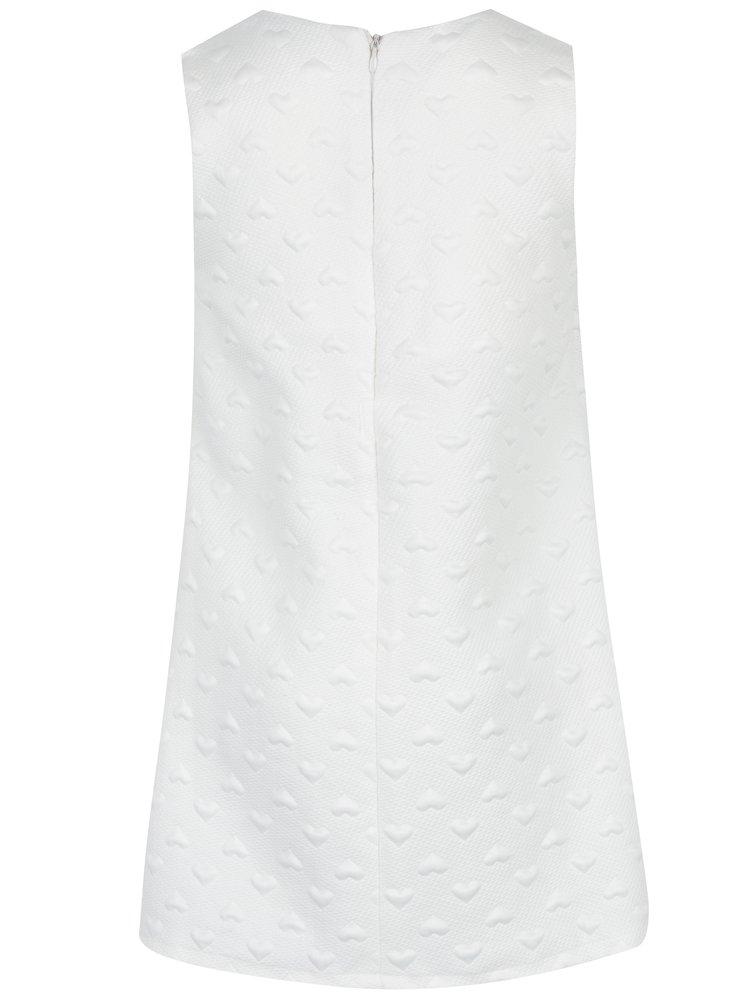 Krémové holčičí šaty se srdíčky Mix´n Match