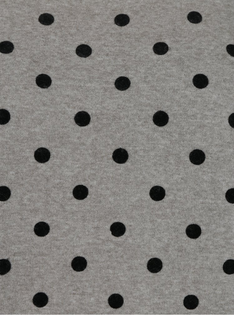 Šedá puntíkovaná mikina ONLY Dot