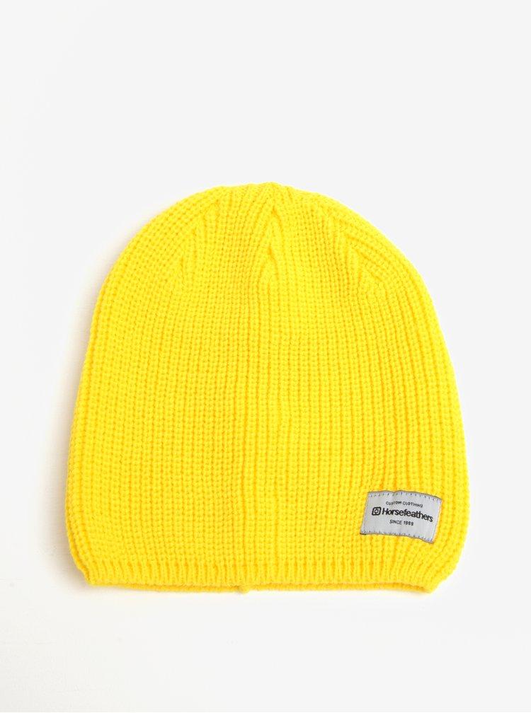 Žlutá dámská zimní čepice Horsefeathers Berta