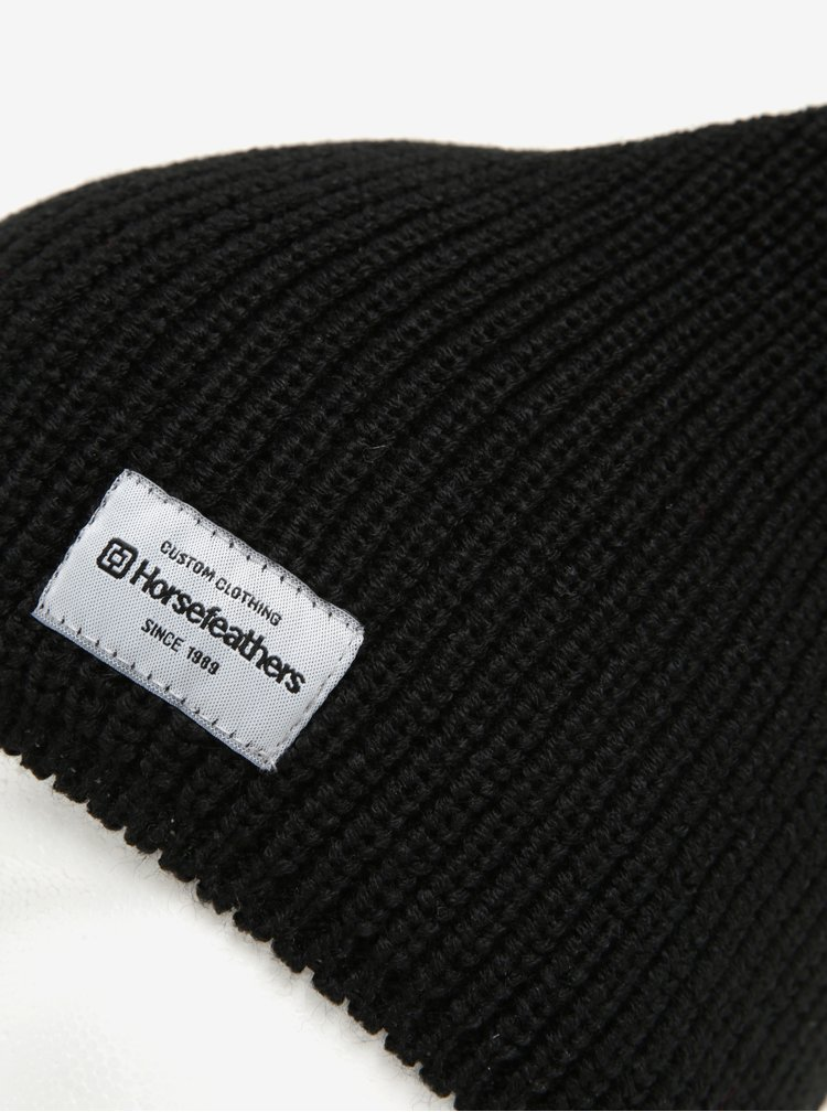 Černá dámská zimní čepice Horsefeathers Berta
