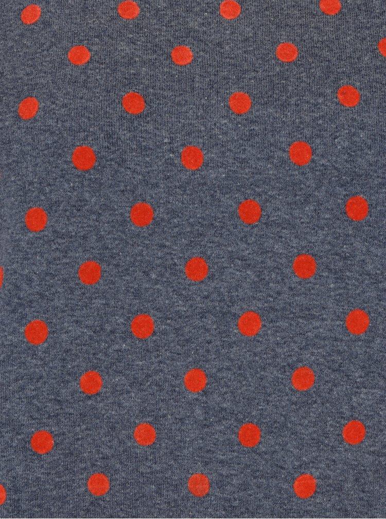 Šedomodrá puntíkovaná mikina ONLY Dot