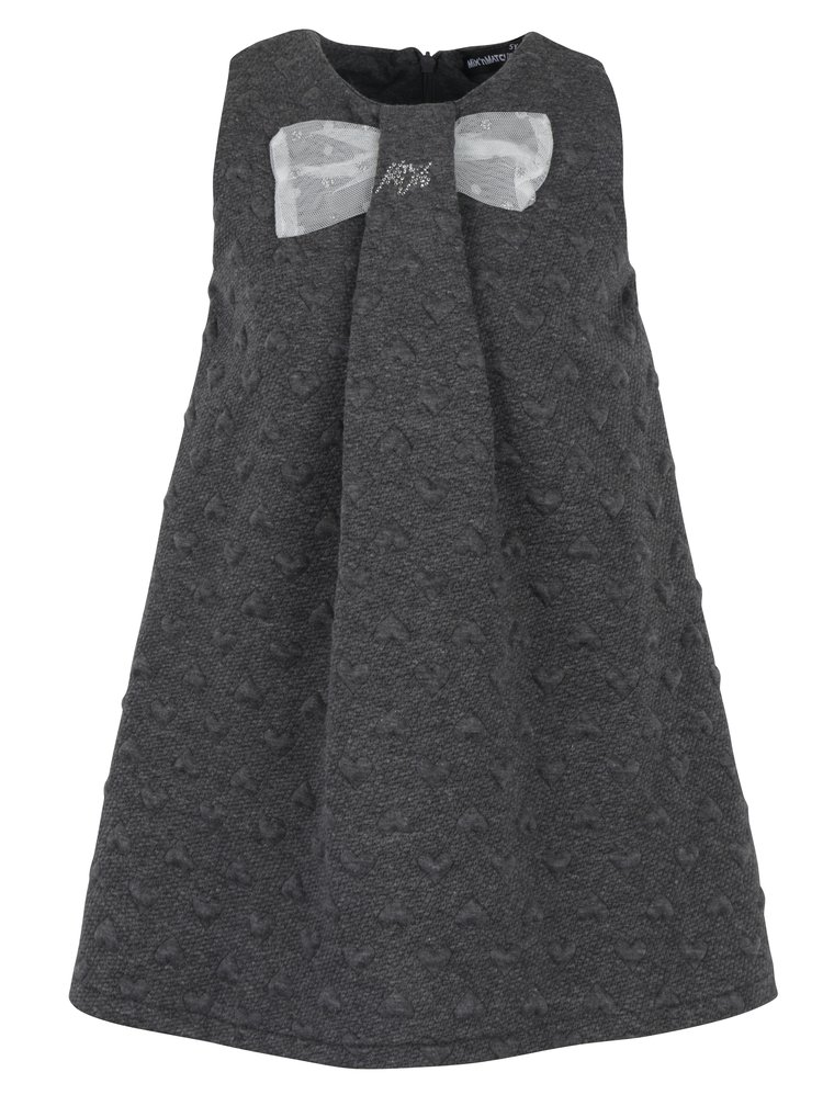 Tmavě šedé holčičí šaty se srdíčky Mix´n Match