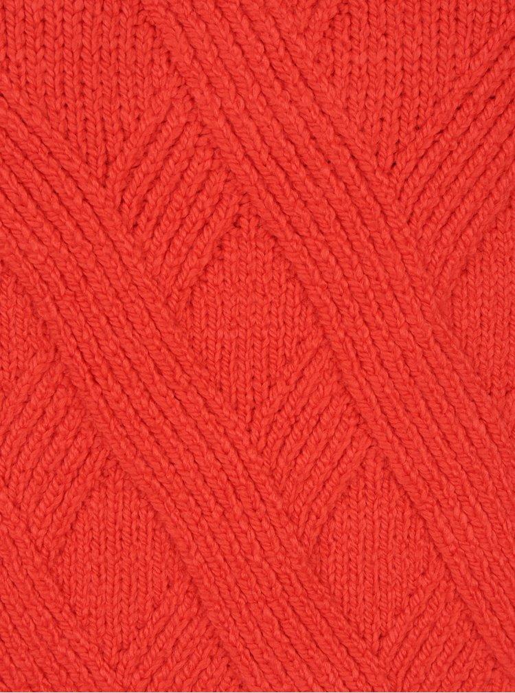 Červený sveter s balónovými rukávmi ONLY Luv
