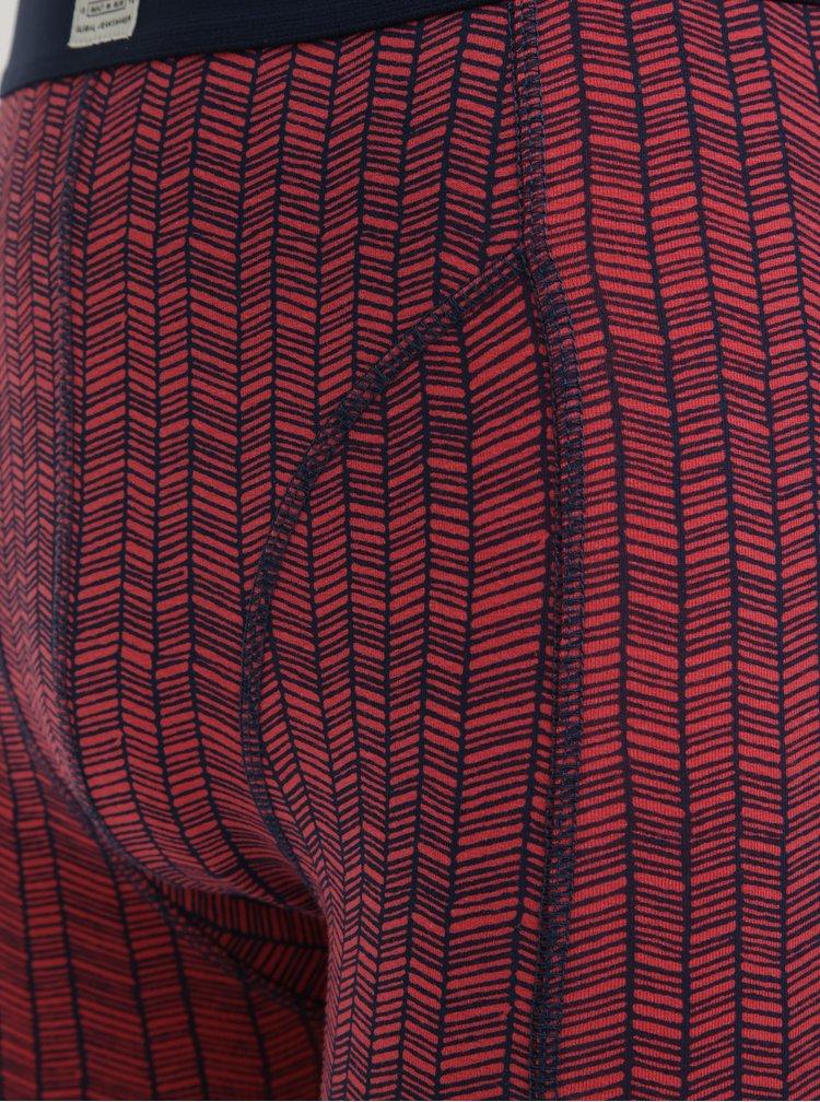 Sada dvou vzorovaných boxerek v červené a modré barvě Blend