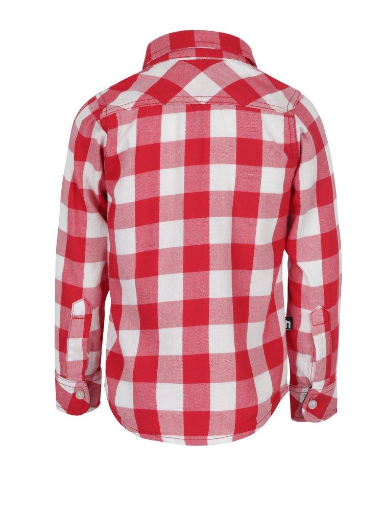 Červená klučičí kostkovaná košile s kapsou Mix´n Match