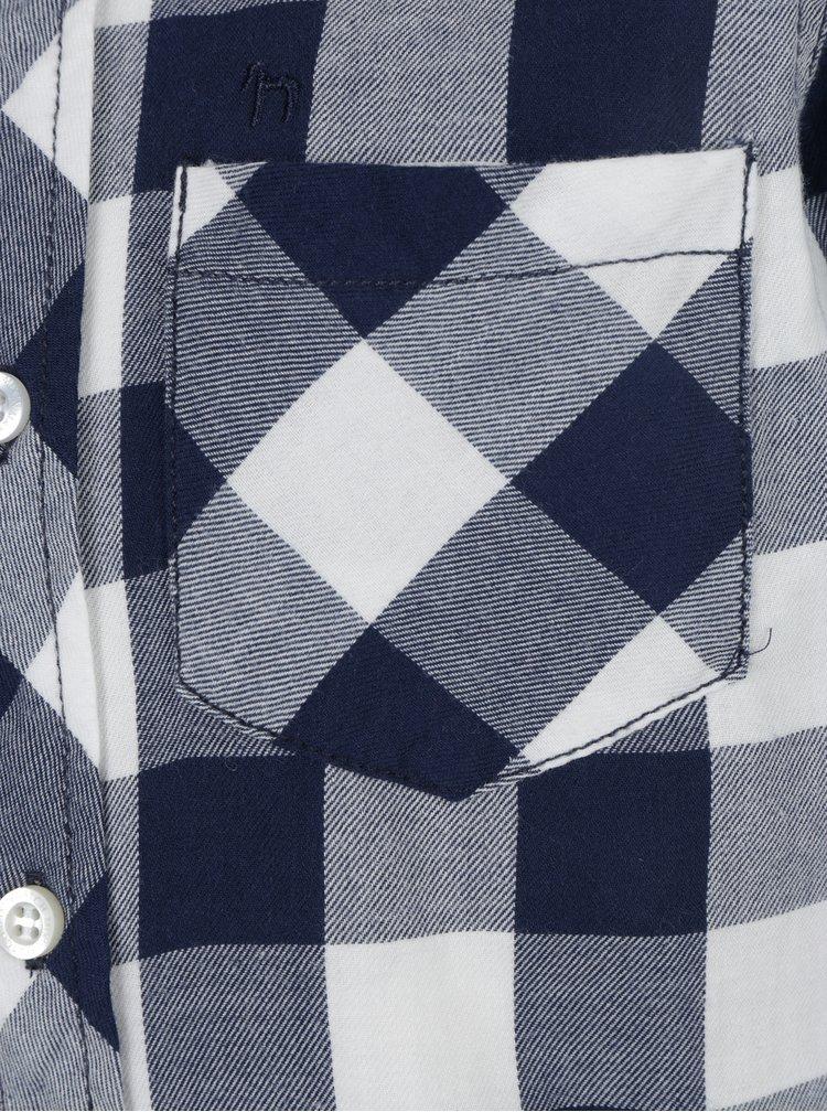 Modrá klučičí kostkovaná košile s kapsou Mix´n Match