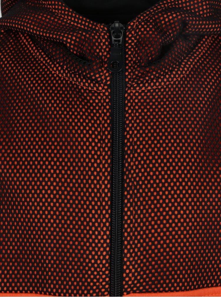 Černo-oranžová klučičí mikina s kapucí Mix´n Match