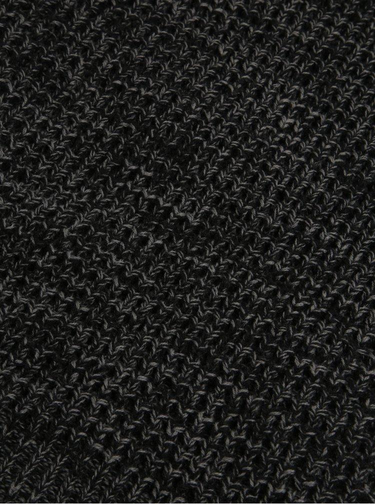 Tmavě šedý žíhaný nákrčník Blend