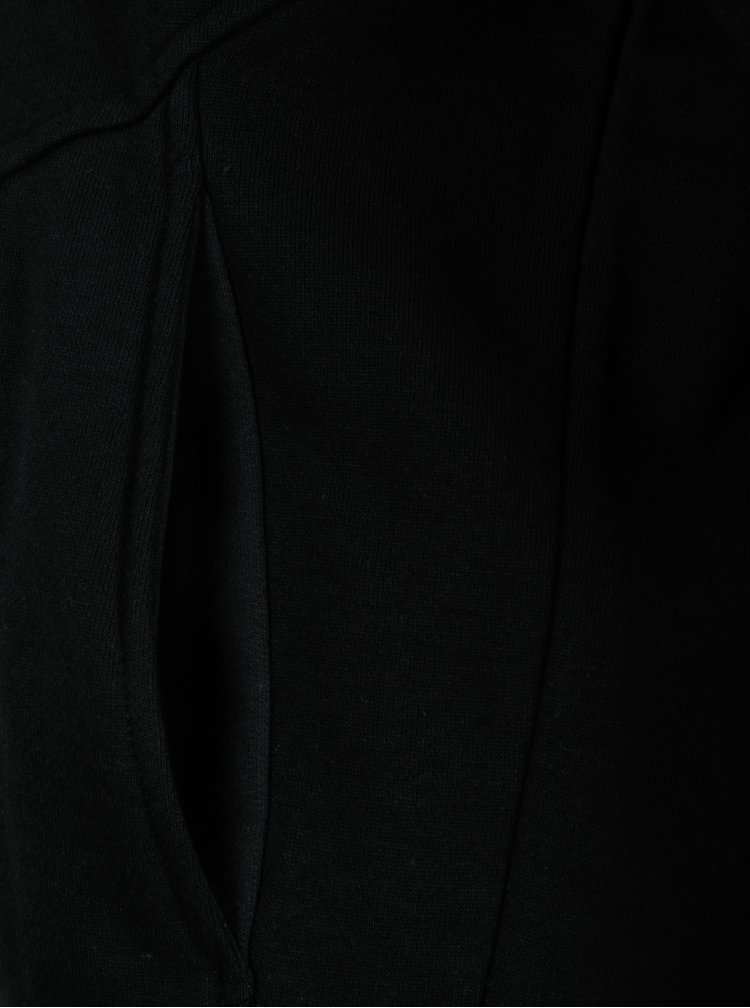 Černá regular fit mikina s kapucí a potiskem na zádech Blend