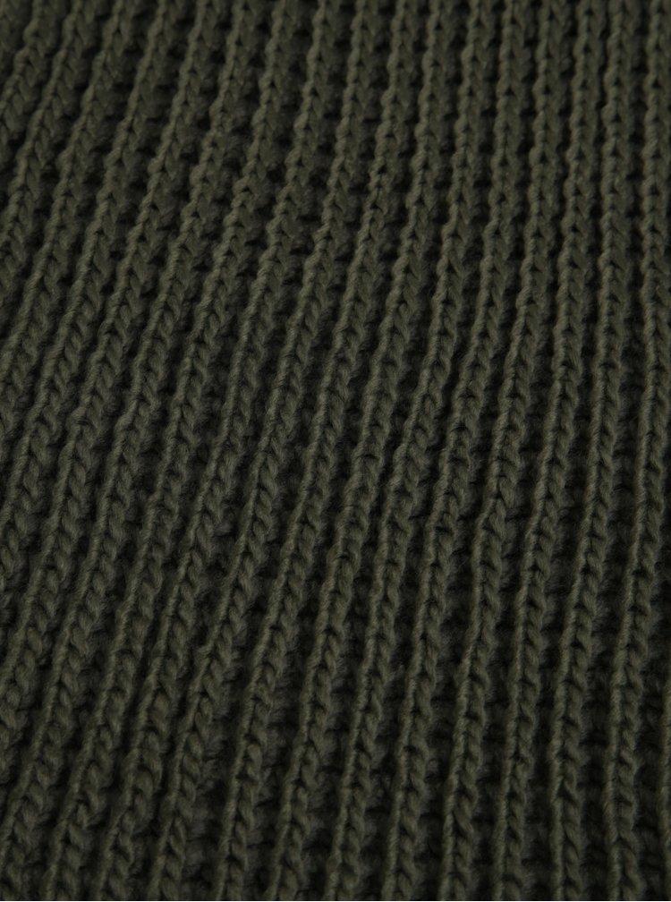 Fular circular verde tricotat Blend