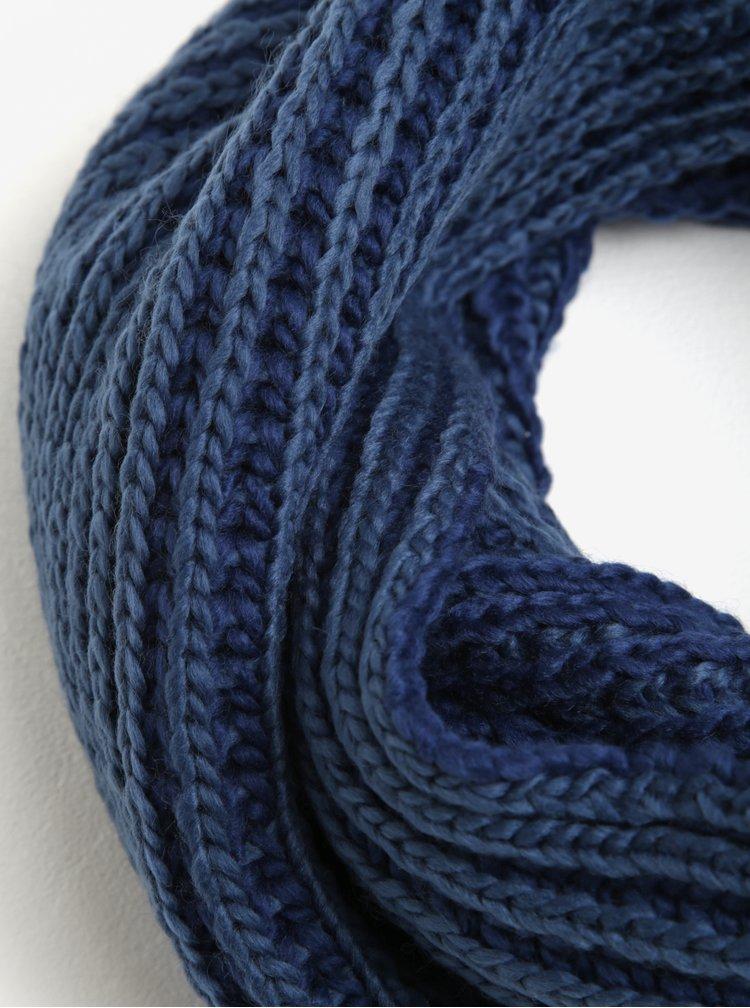 Modrá dutá šála Blend