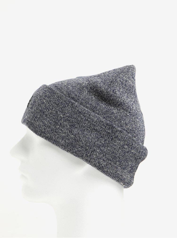 Caciula tricotata bleumarin cu gri Blend