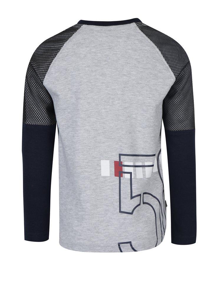 Modro-šedé klučičí tričko s potiskem Mix´n Match