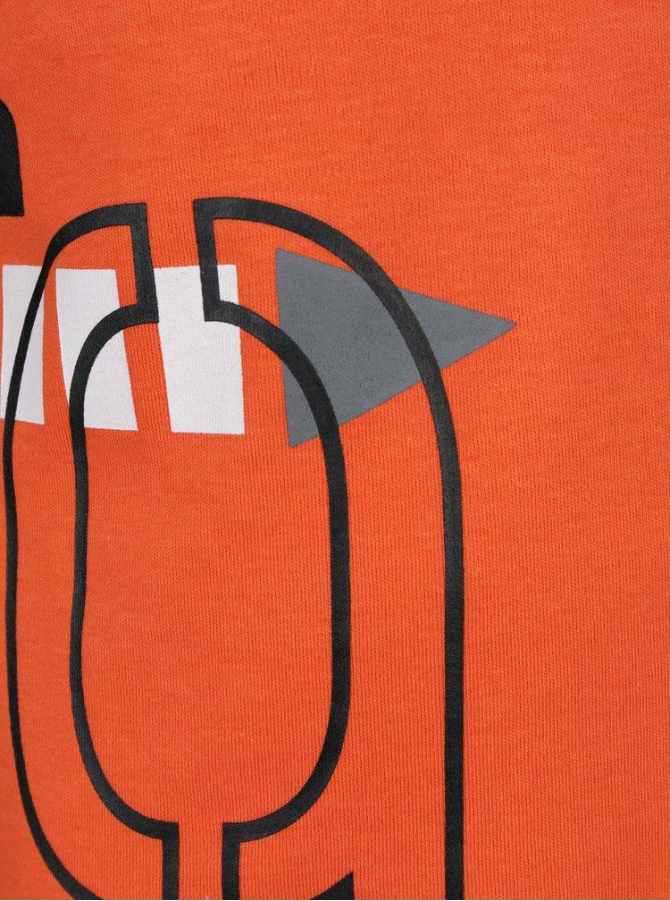 Černo-oranžové klučičí tričko s potiskem Mix´n Match