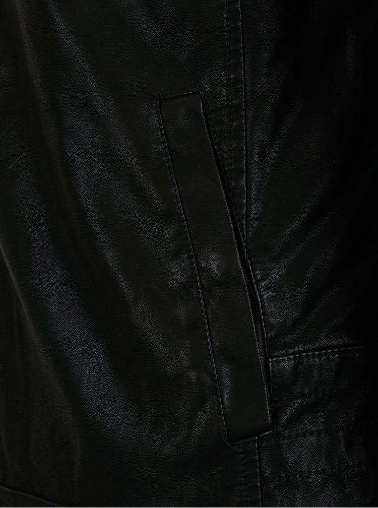 Černá koženková bunda Blend