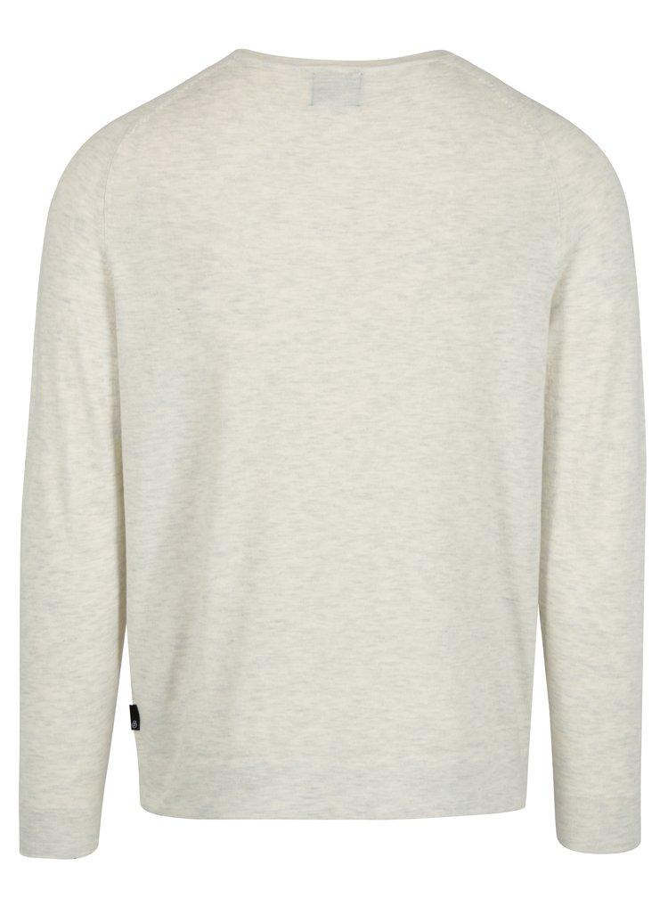 Krémový žíhaný svetr Burton Menswear London