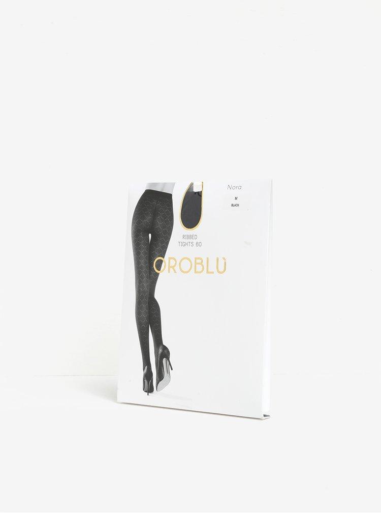 Dres negru cu model discret - Oroblu Nora