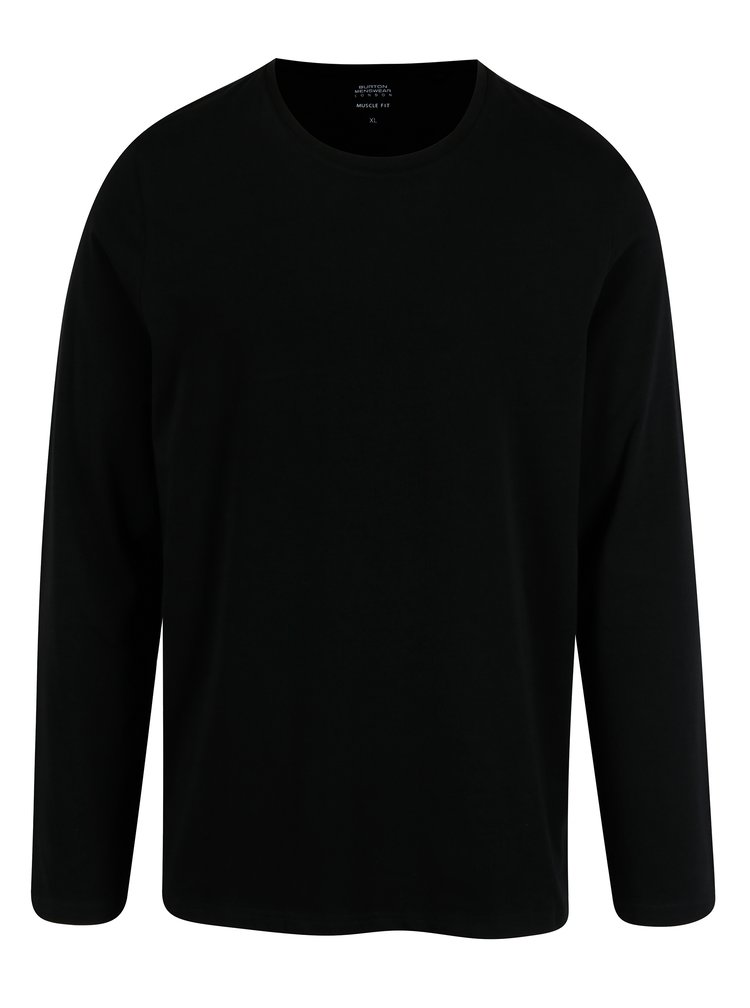Bluza basic neagra pentru barbati - Burton Menswear London