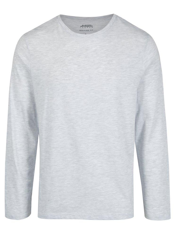 Bluza basic regular fit gri melanj pentru barbati - Burton Menswear London