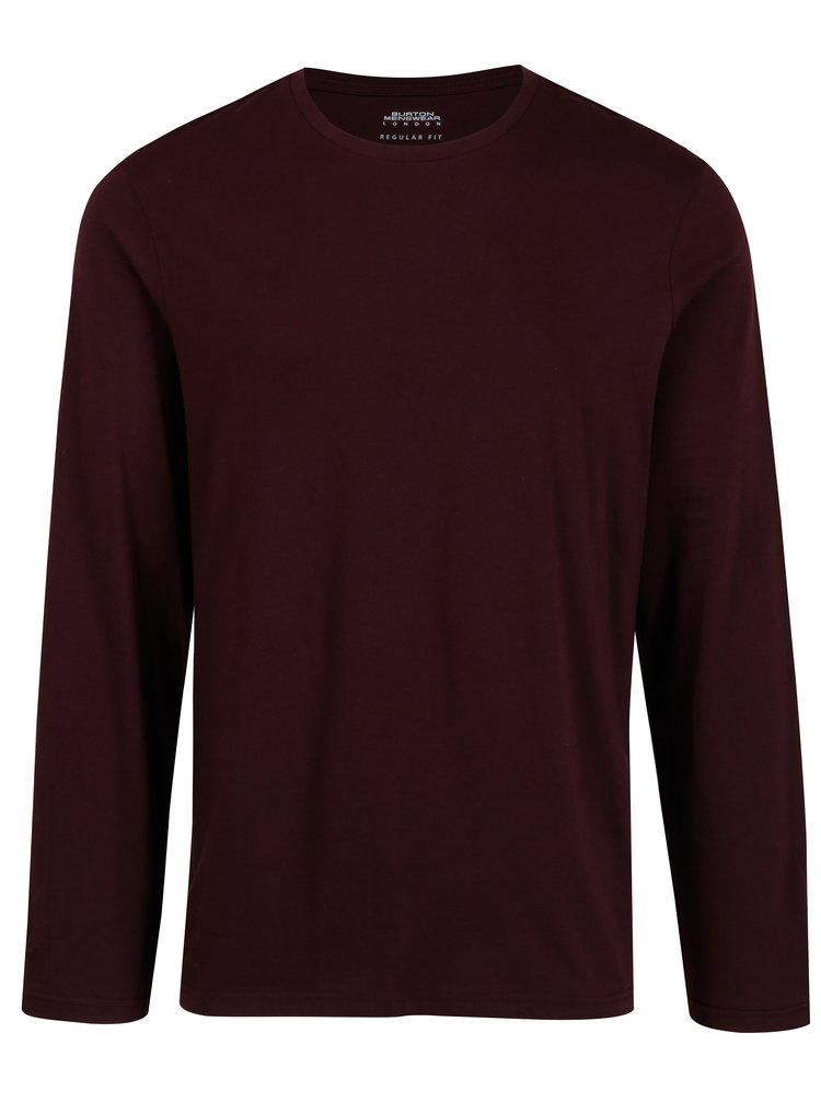Bluza basic bordo pentru barbati - Burton Menswear London