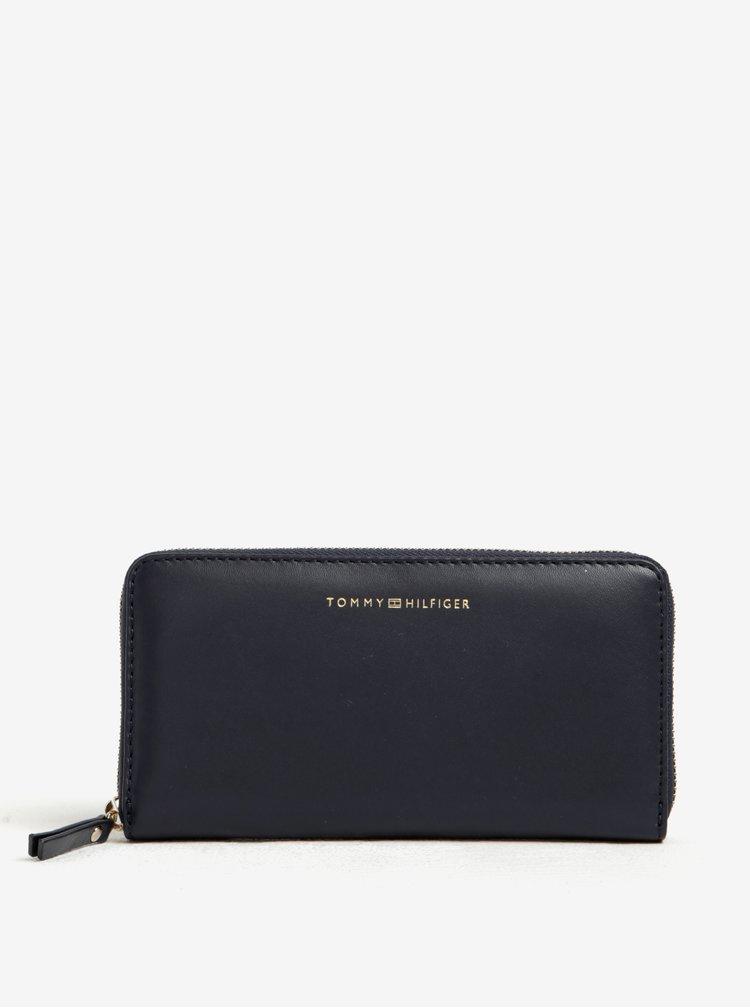 Tmavomodrá dámska kožená peňaženka Tommy Hilfiger