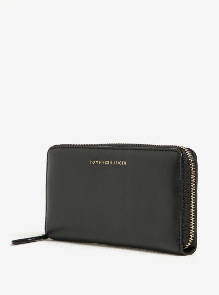 Černá dámská kožená peněženka Tommy Hilfiger