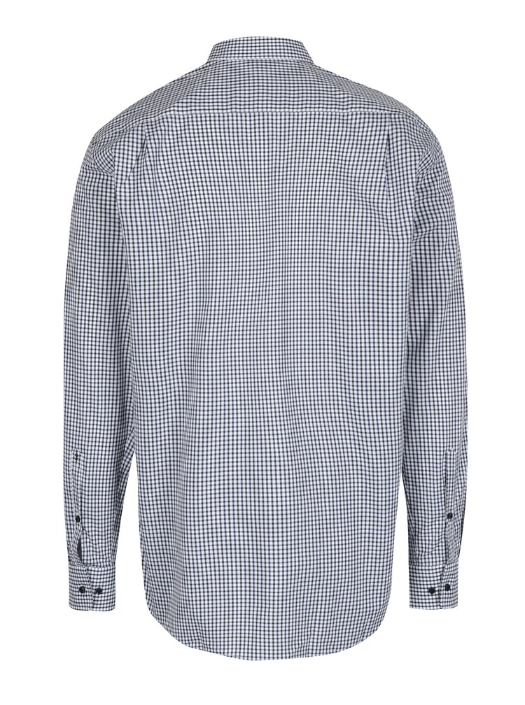 Modro-bílá kostková modern fit košile Seidensticker