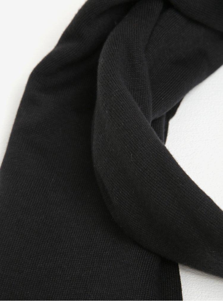 Černá pánská hedvábná šála Tommy Hilfiger