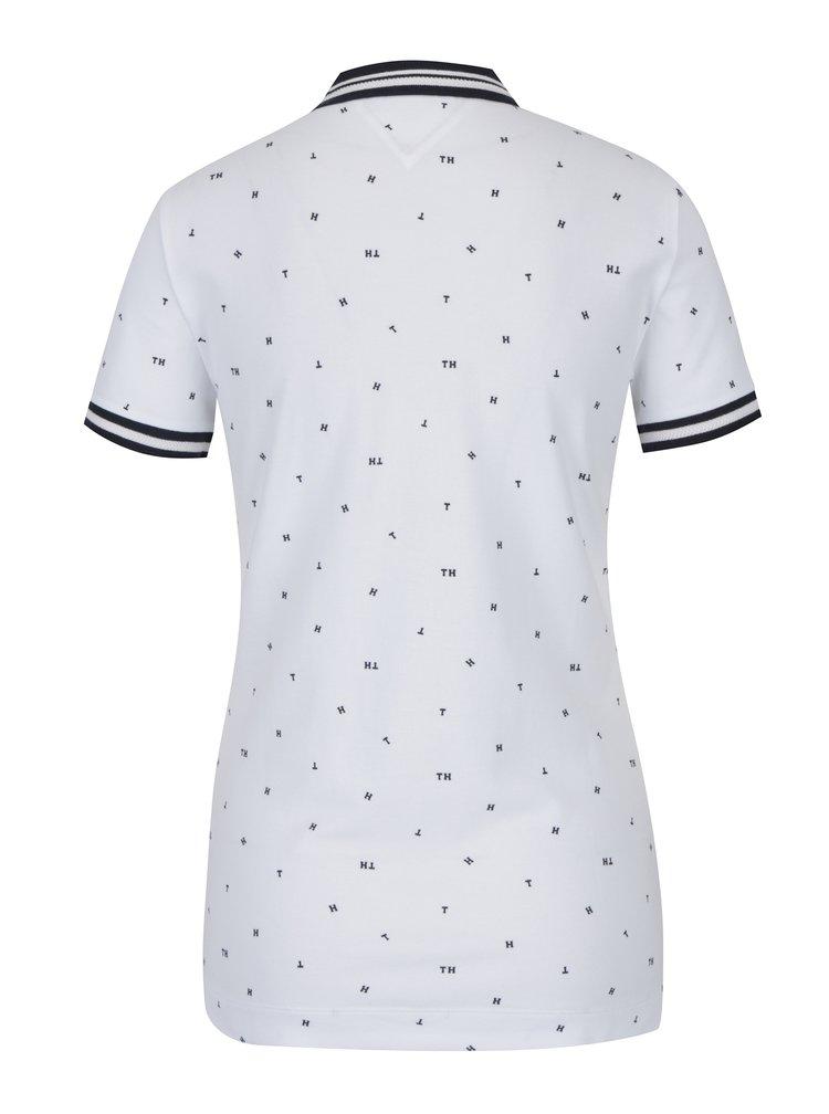 Bílé dámské vzorované polo tričko Tommy Hilfiger Talisha