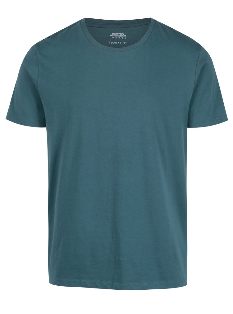 Tricou basic verde regular fit pentru barbati - Burton Menswear London