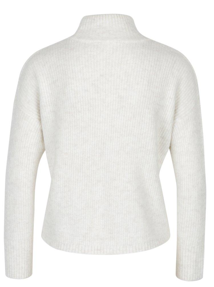 Krémový žebrovaný svetr Miss Selfridge Petites