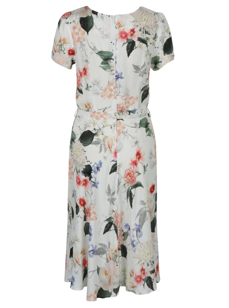 Krémové květované midi šaty Billie & Blossom